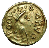 Coin Anglo Saxon Tremissis Obverse