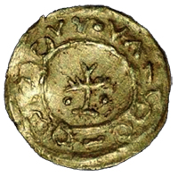 Coin Anglo Saxon Tremissis Reverse