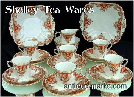 Shelley Marks c1930 - Shelley Art Deco Tea Set