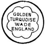 Wade Golden Turquoise Mark c1950s