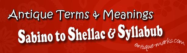 Sabre to Syllabub: Antique Terms (S)