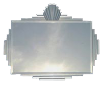 Modern Reproduction of an Art Deco Mirror