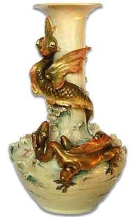 Roayl Dux dragon Vase