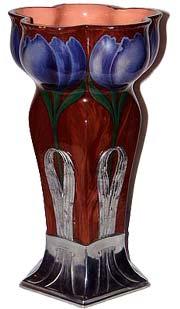 Orvit Art Nouveau Glass Vase