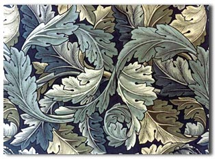 william morris arts and crafts wallpaper using acanthus leaves