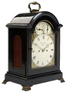 Antique Bracket Clock by Thomas Fowler -  from antique-marks.com