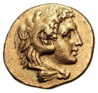Greek Calabria Tarentum Coin with Herakles