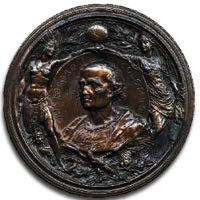 Christopher Columbus medal, 1892, by Johnson - Obverse