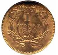 Coin Gold Indian Princess Head Dollar - Reverse