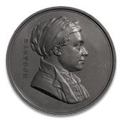 Leonard Charles Wyon medal of william hogarth c1848