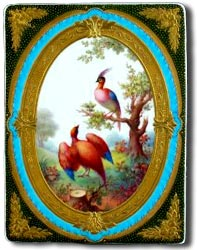 derby porcelain plaque by albert gregory