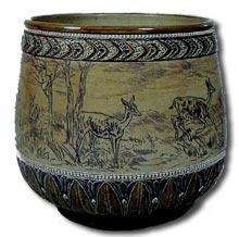 Doulton Stoneware Bowl by Hannah Barlow