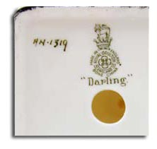 Royal Doulton marks - darling HN1