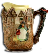 Royal Doulton and charles noke sairey gamp seriesware jug