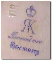 Dresden Porcelain and the history of the Dresden crown mark