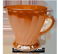 Fire King glass peach milk jug