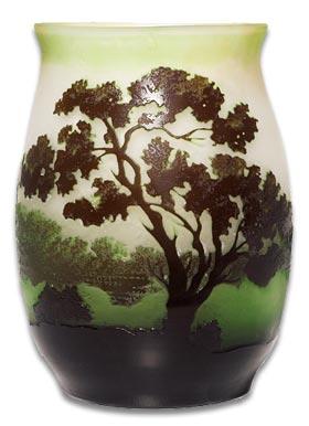 Emile Galle french art nouveau glass vase