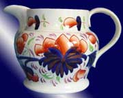 Grape Pattern Gaudy Welsh Pottery Jug - c1840s
