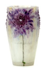 Antique Glass Terms - Pate de Verre Glass Vase  - from antique-marks.com