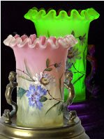 Webb Vaseline Glass Posy