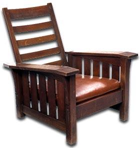 antique furniture - a gustav stickeley chair