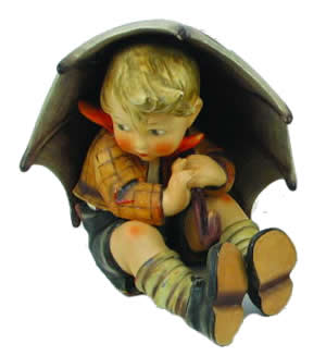 Hummel Figurines - Boy with Umbrella
