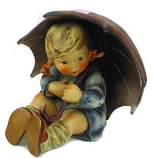 Hummel Figurines - A large hummel umbrella girl figure, HUM 152/II B, TM-4, dated 1957