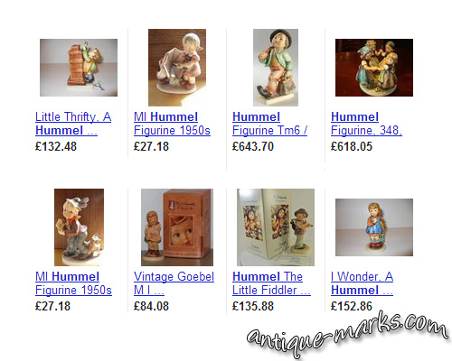 Sample Prices for Hummel Figurines in 2013