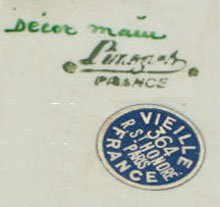 Limoges Mark with Retailers Label