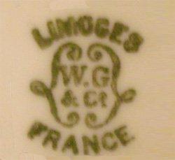 Limoges W Guerin mark 1891-1932