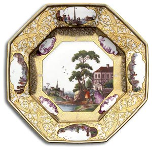 Meissen biddulph plate c1740