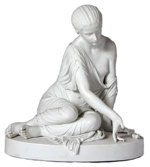 Meissen figure of a lady