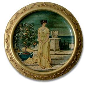 Minton Art Nouveau Plaque c1876
