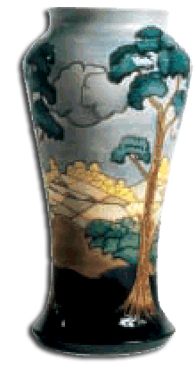 walter moorcroft - after the storm vase