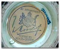 Moorcroft Royal Warrant paper label
