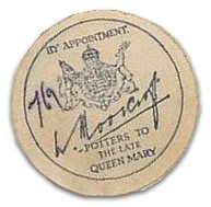 Moorcroft printed paper Royal Warrant label