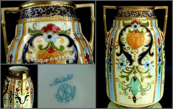 Noritake China Marks on a Noritake art deco vase