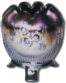 A Northwood Glass Rose Purple Vase - c1780