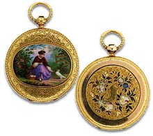 Antique Glossary - Antique enamel Patek Philippe pocket watch