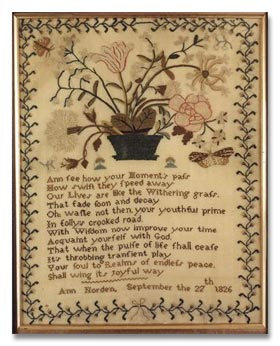 antique marks glossary - antique samplers