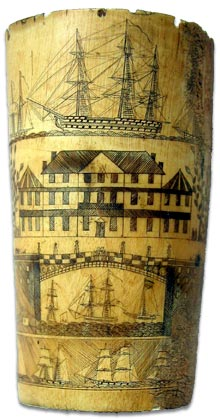Collecting Scrimshaw - an excellent example of antique scrimshaw work