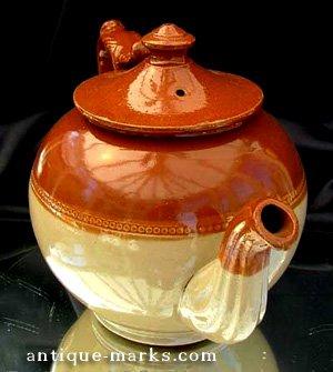 Staffordshire Salt Glaze Teapot