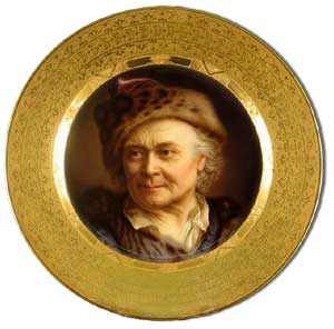 royal vienna portrait plaque