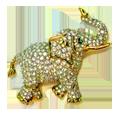 Vintage Swarovski Glass Elephant Brooch
