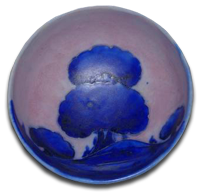 William Moorcroft Salt Glaze Dawn Pattern Bowl