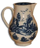 Early Worcester Jug in the Arguement Pattern
