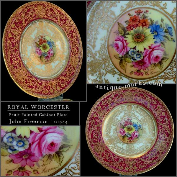 Antiques Collection - Worcester Fruit Painted Plate by John Freeman