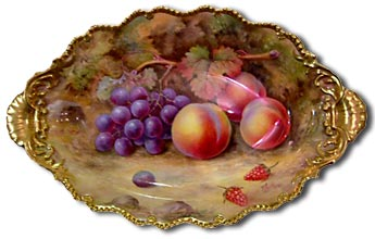 Royal Worcester fruit painted by Thomas Lockyer