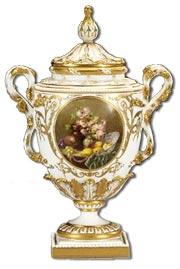 William Hawkins Worcester Vase