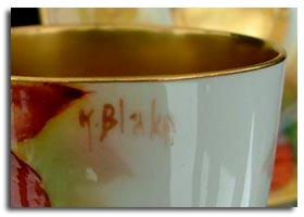 worcester fruit artist kitty blake signature mark